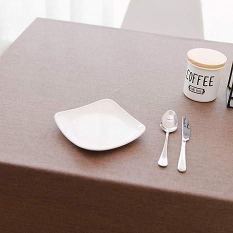 uqin - Mantel de Lino de algodón para Restaurante de café ...