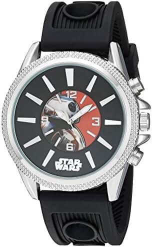 Star Wars Boy's Quartz Plastic Casual Watch, Color:Black (Model: SW7AQ050)