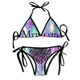 FDJKHY Personalized Women Bikini-Mermaid At Love Swimsuit Beachwear