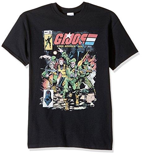 Joe American Hero T-shirt - G.I. Joe Men's A Real American Hero T-Shirt, Black, Large