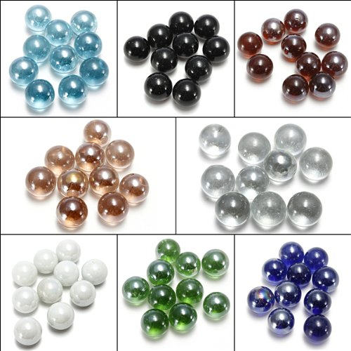 10X Gorgeous Glass Marbles 16mm Beads Balls Fish Tank Decoration (Beads 5 16mm)