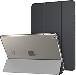 MoKo Case Fit iPad Pro 9.7 - Slim Lightweight Smart Shell Stand Cover with Translucent Frosted Back Protector Fit iPad Pro 9.7 Inch 2016 Release Tablet, Space Gray (with Auto Wake/Sleep)