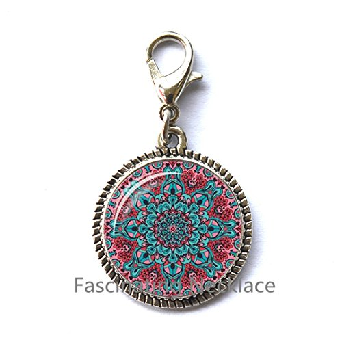 ing Zipper Pull Teal Green Aqua Spiritual Jewelry Inspirational Zipper Pull Sacred Geometry Meditation Jewelry,AQ157 ()