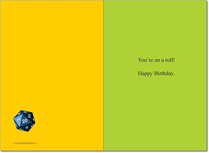 Dungeons And Dragons Birthday Humor Greeting Card Amazon