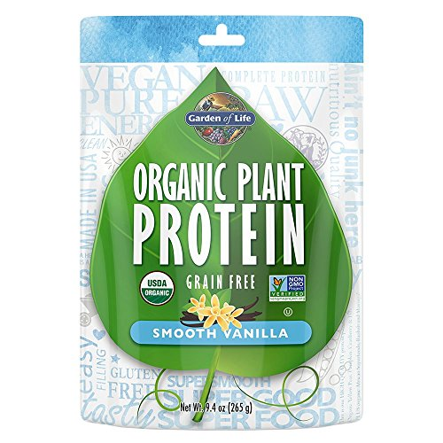 Garden of Life Organic Protein Powder - Vegan Plant-Based Protein Powder, Vanilla, 9.4 oz (265g) Powder ()