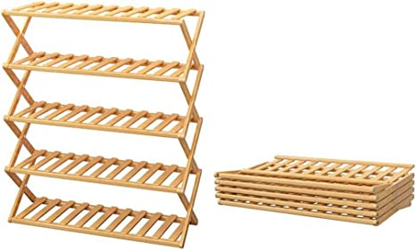 ZXPzZ Estante para Zapatos Estante para Zapatos De Bambú Plegable ...