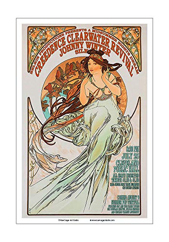 - Raw Sugar Art Studio Creedence Clearwater Revival/Johnny Winter/CCR 1969 Cleveland Concert Poster