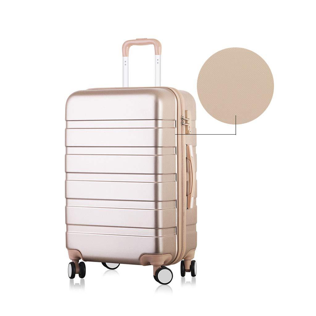 4つの車輪が付いている小屋の手荷物のスーツケースで運んでいるスーツケース旅行ABSの堅い貝旅行、軽量の携帯用旅行手は堅いケースの荷物のスーツケース、シャンペンを運びます 44*27*67cm  B07MJW59VT