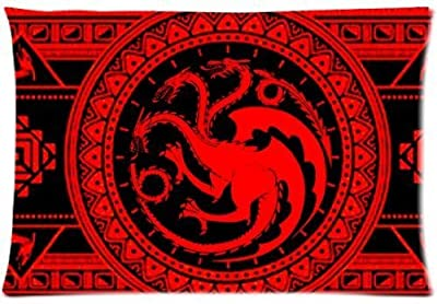Sexy Fashion Game of Thrones House Targaryen Pillowcase Rectangle Zippered Two Sides Design Printed 16x24 pillows Throw Pillow Cover Cushion Case Covers
