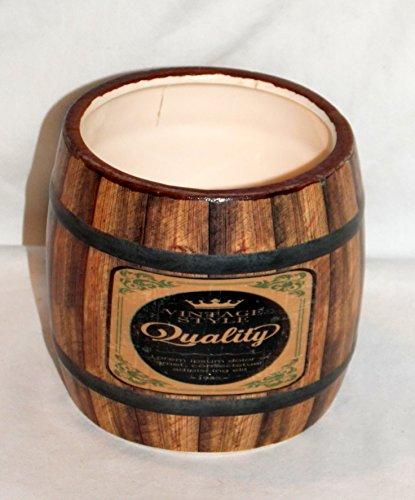 New Ceramic Planter (New Vintage Pot Belly Wine Barrel Look Ceramic Pen Holder / Planter Pot / Wrapped Candy Dish)