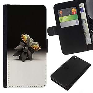 Be-Star la tarjeta de Crédito Slots PU Funda de cuero Monedero caso cubierta de piel HTC DESIRE 816 ( Nature Art Artificial Flower Modern Abstract )