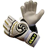 Goalkeeper Gloves By Blok-IT – High Quality Goalie Gloves to Help You Make the Toughest Saves – Secure and Comfortable Fit With Extra Padding to Reduce the Chance of Injury