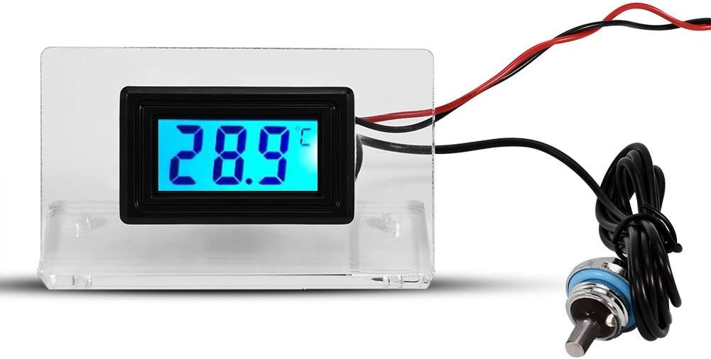 Yosoo Computer Temperature Detector, PC Water Cooling Temperature Detector Digital/Dial Thermometer LCD Screen Frame Kit (Digital Thermometer)