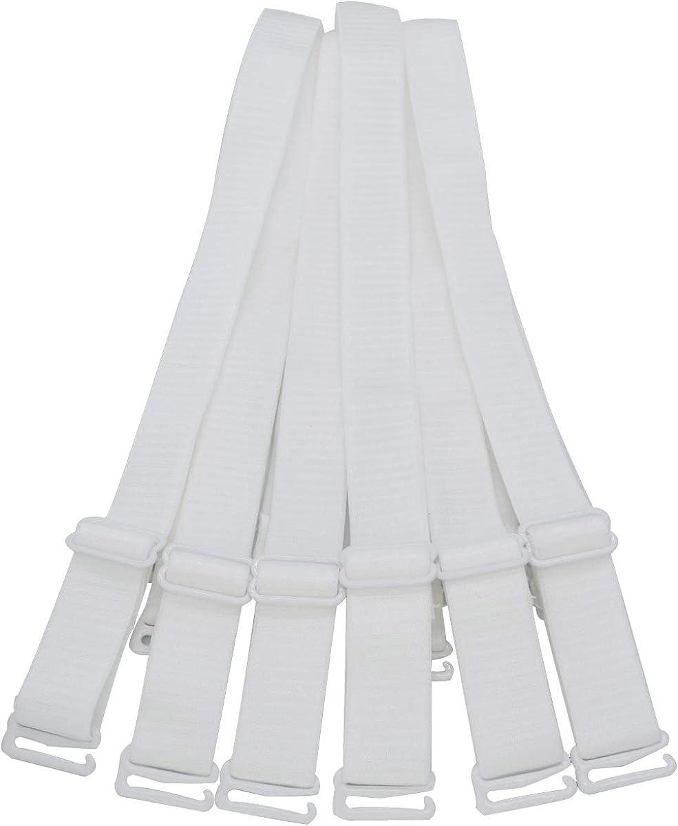 DoHope Adjustable Bra Straps Replacement 10//12//15//18//20mm Wide Black White Beige