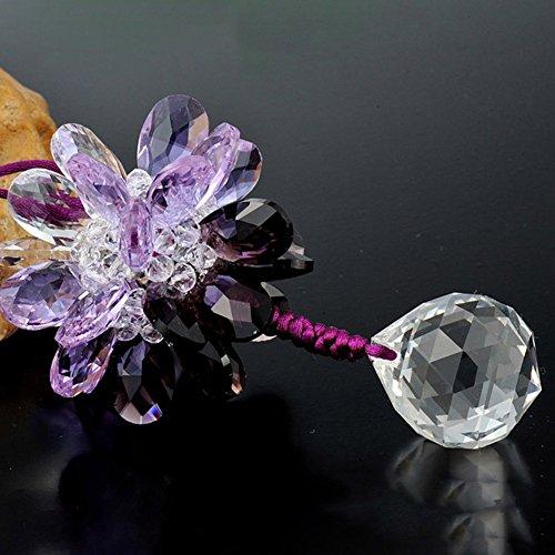 - Yacn Crystal Snowflake Ornament bvGlass Iridescent Pendant for Mirror Car Charm Hanger Ornament (Purple-black)
