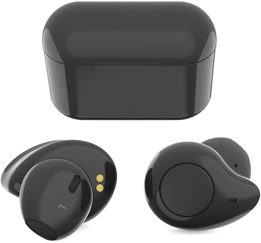 True Wireless Earbuds, Willful T1 Bluetooth Earbuds Wireless Earphones Headphones HD Stereo Sound Clear Call 20H Playtime Earbuds with Microphone Charging Case Compatible iPhone Samsung Android Black