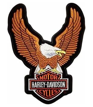 10,5 cm auf 5,7 cm Harley Davidson Aufnäher Patch Modell  Flame HD Größe ca