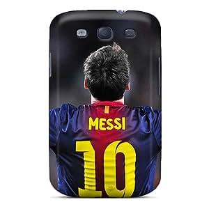 Hot Design Premium ETq4292beAE Tpu Case Cover Galaxy S3 Protection Case(the Player Of Barcelona Lionel Messi)