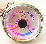 Kadir Koc 1pc 52mm Pointer Rudder Angle Gauges White Waterproof Rudder Angle Meters 9-32v for Boat Yacht Vessel