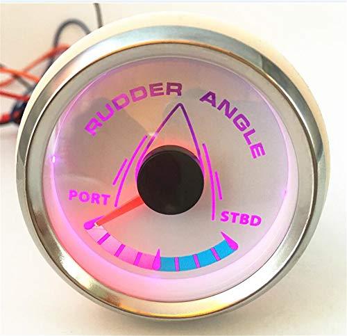 Kadir Koc 1pc 52mm Pointer Rudder Angle Gauges White Waterproof Rudder Angle Meters 9-32v for Boat Yacht Vessel by Kadir Koc (Image #9)