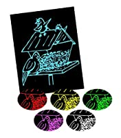 "Mind Sparks ""Now You See It Etch"" Solid Colors Drawing Paper (12 Sheet)"