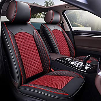 Han sui song Car Seat Cover Set Universal Automotive Accessories Artificial Leather Pet Dog for Sedan Truck Pickup SUV Full Set 9 Pcs