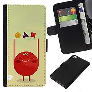 All Phone Most Case / Oferta Especial Cáscara Funda de cuero Monedero Cubierta de proteccion Caso / Wallet Case for HTC Desire 820 // Polygon Art Red Blood Cell Shapes