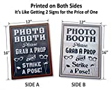 "Bigtime Designs Photo Booth Props Sign, 2-Sided, Use for any Wedding, Party or Event Chalkboard Style on 1 Side and a Rustic Vintage Look on the 2nd, 16"" L x 12"" W"
