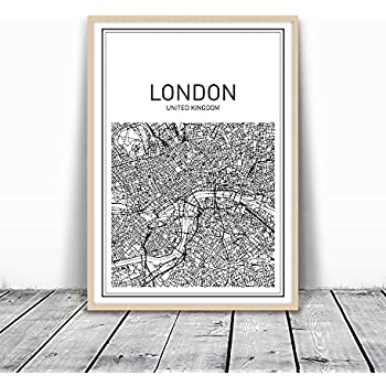Map Print, Map Art, London Map, City Map Print, Map Wall Art