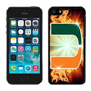 MMZ DIY PHONE CASEMiami (FL) Hurricanes 01 Black Hard Plastic iphone 6 plus 5.5 inch Phone Cover Case