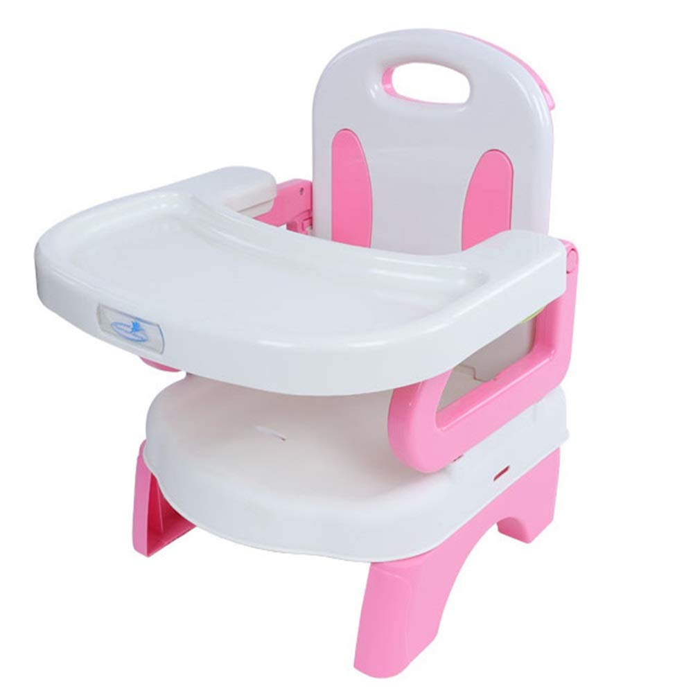 Kids' Desk & Chair Sets Feeding Dinning Chairs Baby Highchair Foldable Chair Removable Infant Tray Travel Booster Seat (Color : Pink, Size : 333143cm) by Liuxina