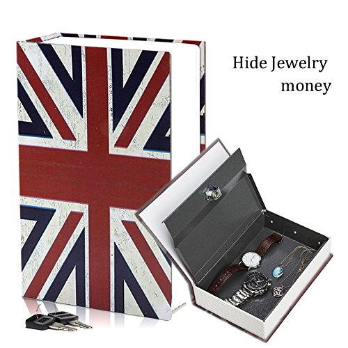 HENGSHENG Secret English Dictionary Book Travel Safe Key Lock Money Cash Jewellery Stash Home Lock 7.14.6 2.2 inches- ENGLAND STYLE