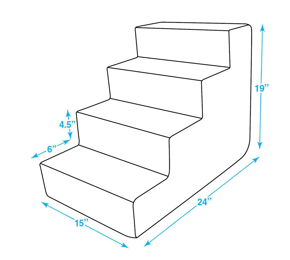 Best Pet Supplies ST225T-M Foam Pet Stairs/Steps, 4-Step, Animal Print by Best Pet Supplies, Inc. (Image #4)