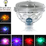 BRIGHT IDEA Solar Floating Underwater Light Show, Color Changing Blinking Night Lamp for Pool, Spa, Hot Tub, Bath, Pond or Landscape Garden