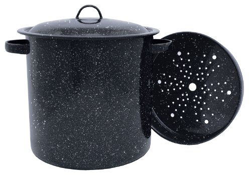 Granite Ware Tamale Pot with Steamer Insert, 15.5-Quart (Large Graniteware)