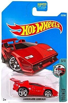 Amazon Com Hot Wheels 2017 Tooned Lamborghini Countach 152 365 Red