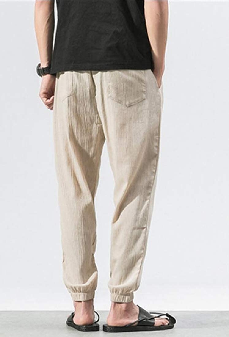 M/&S/&W Mens Casual Elasticity Casual Drawstring Plus Size Pants