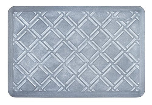 Moire Glass (WellnessMats Estates Collection Coastal Series Beach Glass Moire 3 x 2 Foot Anti-Fatigue)