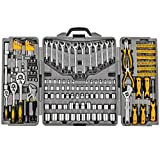205 Piece Mechanics Tool Set, Socket Wrench Auto Repair Tool Pliers Combination Mixed Hand Tool Set Kit with Box Organizer Storage Case (Color: 205SET)