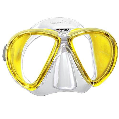 Mares X-Vu Liquid Skin Mask, Great for Scuba Divers, Yellow