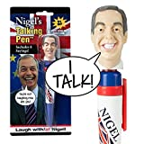 Nigel Farage Talking Novelty Pen – Listen to His Real Voice - 8 of Farage's Most Memorable Quotes Audio - Funny Gift - Replaceable Batteries Included – Just Click & Listen - Fun for All