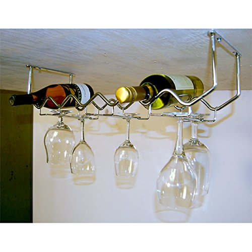 Spectrum-Diversified-Under-Cabinet-Wine-Rack-and-Stemware-Rack-6-Bottle6-Stems-Chrome