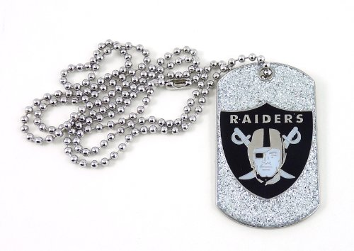 NFL Oakland Raiders Glitter Dog Tag