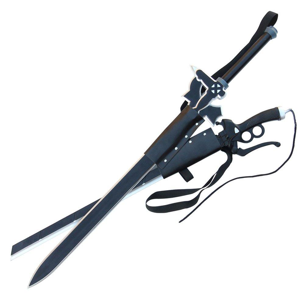 Armory Replicas Titan Attack Kiritos Elucidator Foam Sword Set with Double Sword Back Strap Sheath by Armory Replicas
