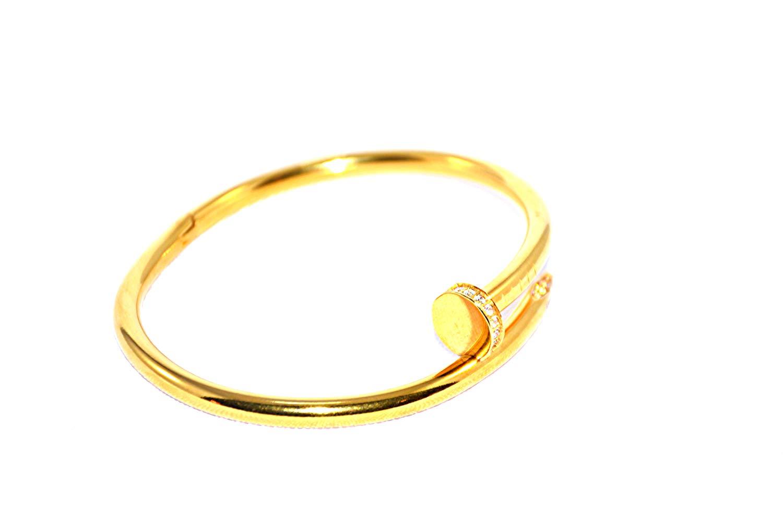 EVHjewelry.com Just A Nail Bangle 18kGP
