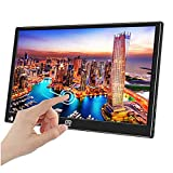 """Eleduino 15.6"""" inch Portable Touchscreen Monitor Second Screen Monitor for Laptop PC 1920x1080 with USB-C & HDMI Video Inputs,HDR,Ultra-Slim Bulit in Speakers"""
