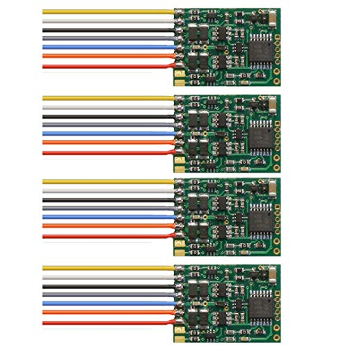 - NCE 5240172 D13W 4-Pack DCC Decoder 4 Function Universal Hard-Wire : HO Scale