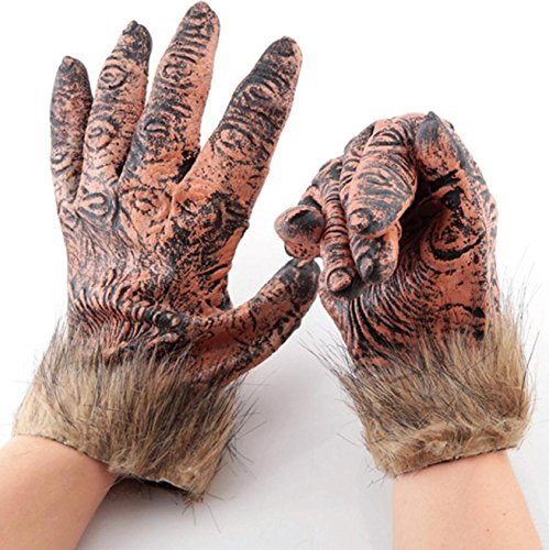 Latex Glove Cosplay Winter Punk Gothic Halloween Costume Gloves Five Fingers New Arrival 2016 Coss Play Style For Women (Garage Punk Halloween)