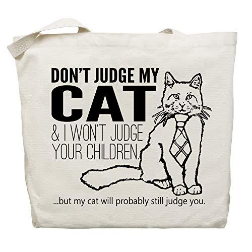 (Don't Judge My Cat Tote Bag by Pet Studio Art )