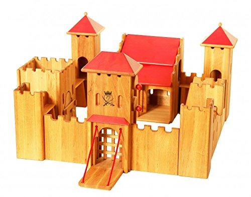 Erst-Holz Castello di Cavalieri Medioevale con Ponte elevatoio in Legno massello Ecologico 931-190
